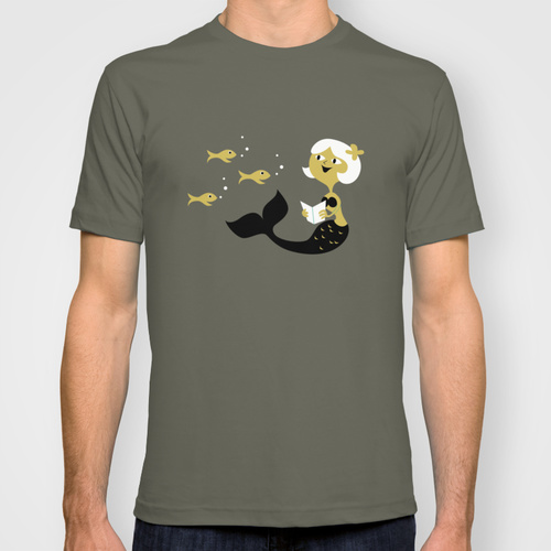 Reading Mermaid Shirt